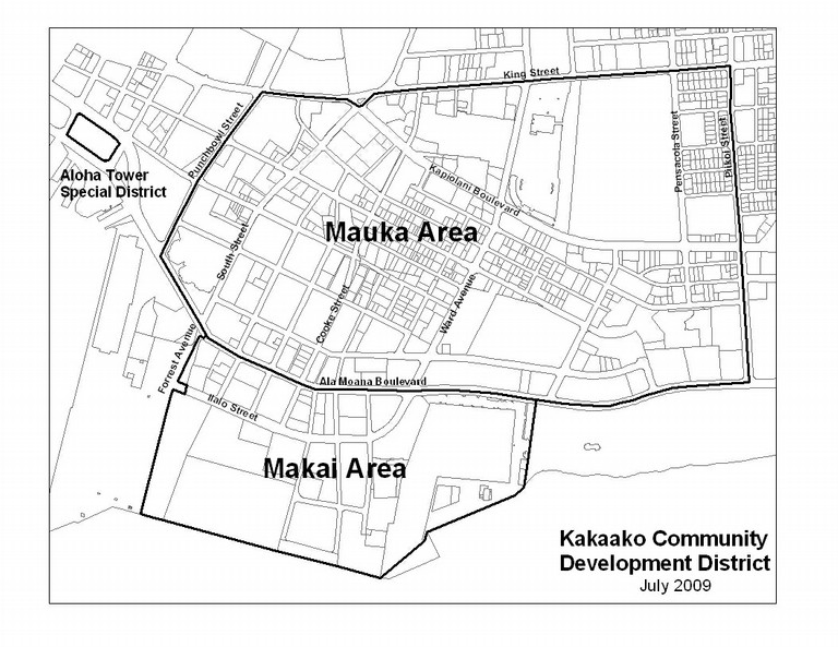 Kakaako District Boundaries