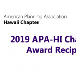 2019 APA-HI Chapter Award Recipients