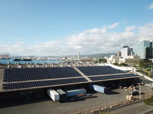 Hawaii Foreign-Trade Zone No. 9 completes installation of its long-planned photovoltaic system at its Pier 2 facility.
