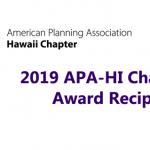 2019 APA-HI Chapter Award Recipients